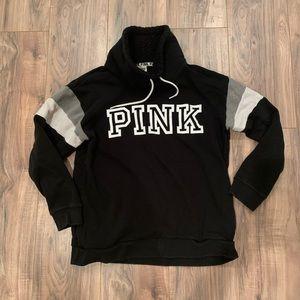 PINK Victoria's Secret Sherpa Cowl Neck Pullover